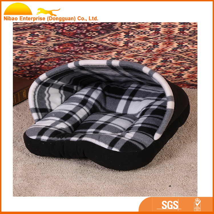 Pet supplies wholesale two-color lattice pet house and bed autumn and winter new warm cat nest kennel