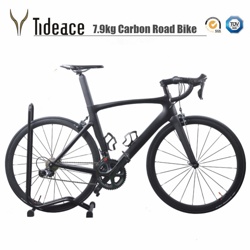 Light weight 7.9kg Tideace 700C Carbon Fiber Road Bike Cycling <strong>Bicycle</strong> 11 Speed Ultegra Groupset Road bike