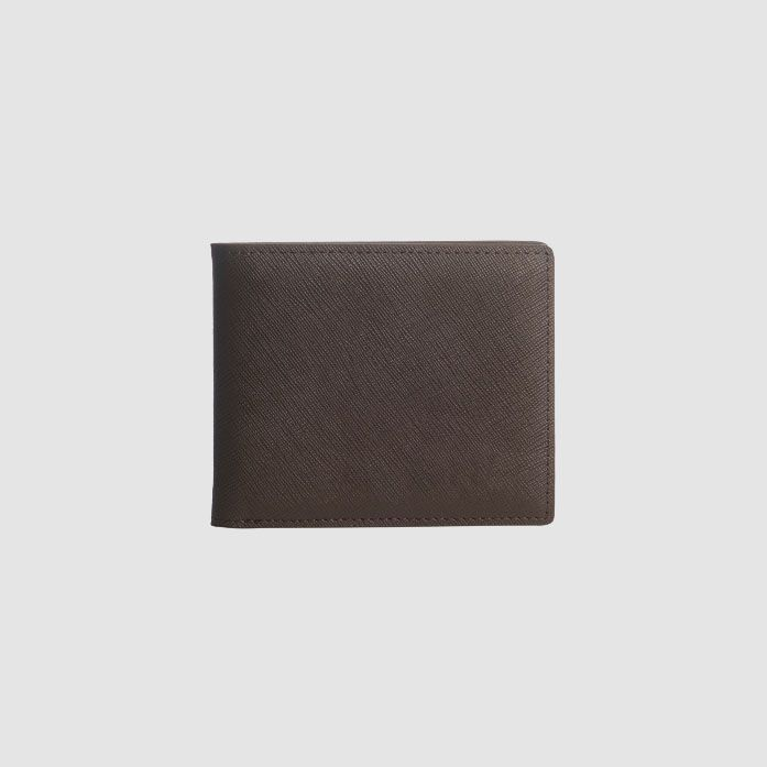 dark brown soft saffiano leather male wallet card holder wallet for men