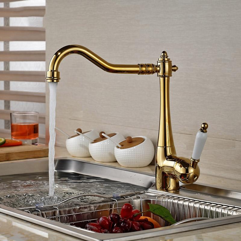 vergoldet küchenspüle wasserhahn einzigen keramik griff Deck ...