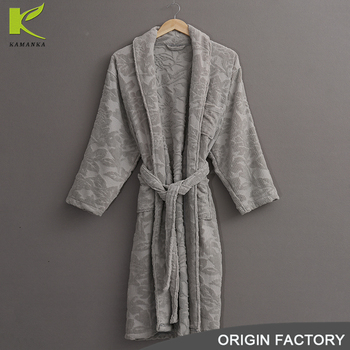 Good quality custom logo dedicated men gray fabric sleepwear