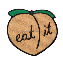 iron Eat It Patch Peach On Embroidered Patch for