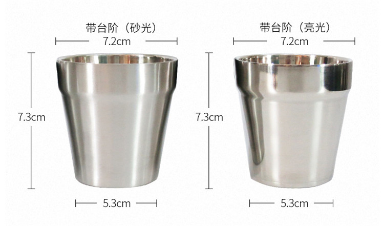 Double wall stainless steel drinking cup beer cup Water cup
