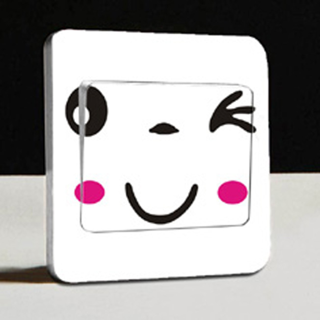 2015 New Brand Simple Smile Stickers Parlor Wall Stickers Home Decoration Decorative Bedroom/Living room