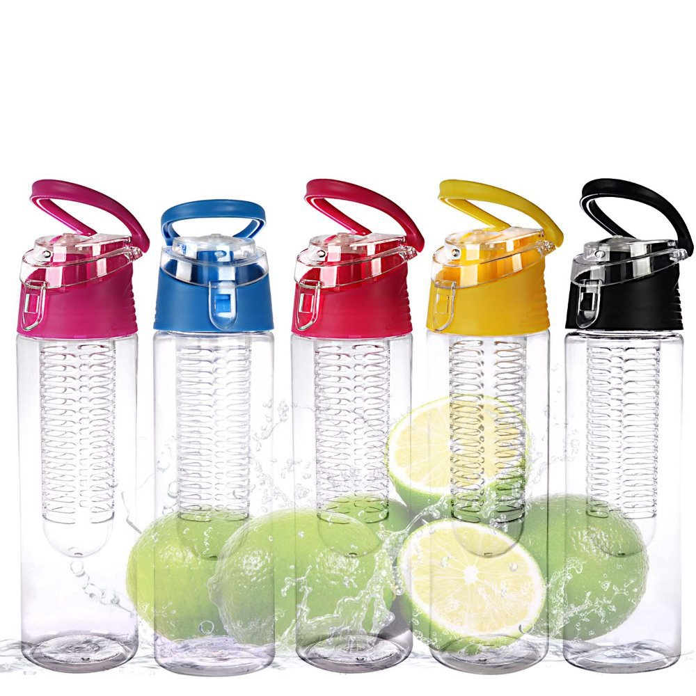 2015 cheap plastic joyshaker private label water botle fruit infuser/pet water bottle with handle