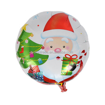 Promotional Christmas Decoration Inflatable Santa Claus Shaped Kids Toys  Christmas Foil Helium Balloon