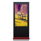 Black & Red Colour 55inch Android System Outdoor LCD Display Digital Signage Totem with Wifi Network