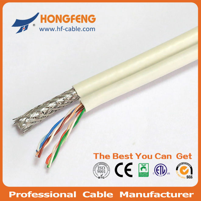cctv cable supplier rg6+AC power and messenger cable