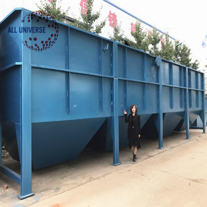 Lamella clarifier inclined plate sediment tank for sewage water treatment