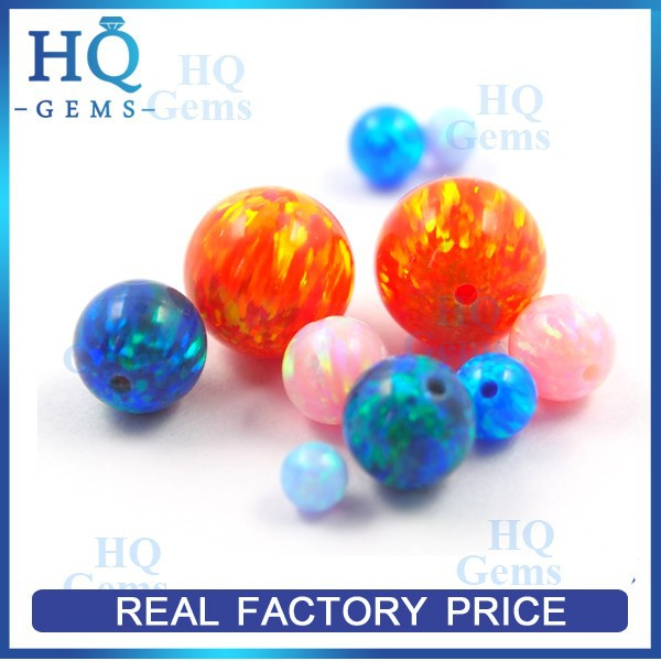 6mm drilled cabochon synthetic ethiopian opal beads for Christmas jewelry