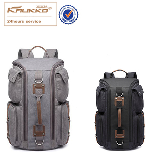 KAUKKO Canvas Travel Backpack Fashion Multi-function Handbag Large Capacity Practical Dual-use Ladies School Bag