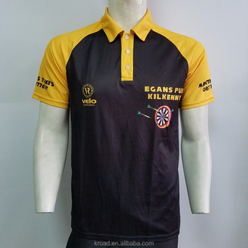11d56ccf Design your own custom dart shirts jersey polo with pockets for team,  sublimated dart t
