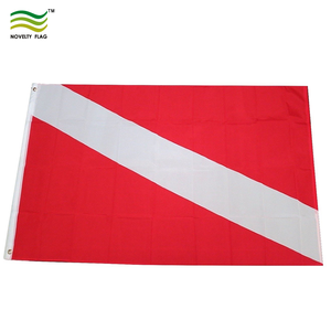 3x5ft Durable Polyester Dive Flag Diver Down Red White Scuba Diving Flag With Two Grommets