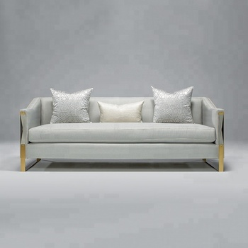 American Style Sofa Set For Living Room Furniture Modern Fabric Simple Sofas 3 Seater Designs V201