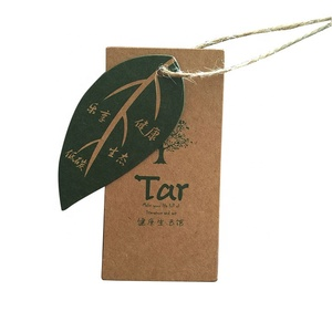 eco friendly recycle brown kraft paper hang tags for clothing with hemp string