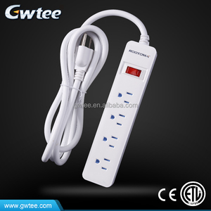 New hot selling products Gwtee multiple outlets RA-6202 waterproof surge protector