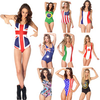 World Cup Flag swimwear one piece for sexy women bathing suit