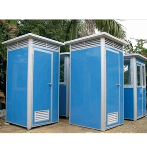Prefab Portable Movable High House Sitting Toilets Used For Public Construction