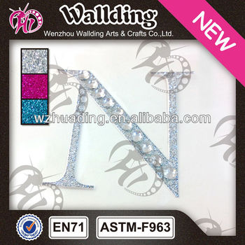 acrylic rhinestone glitter vinyl letters stickers