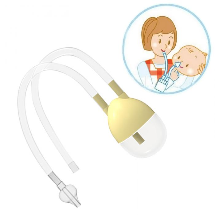 Newborn Baby Safety Nose Cleaner Vacuum Suction Nasal Aspirator Flu Protect AB