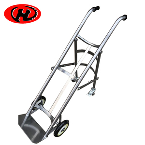 Economical gas bottle lift hand truck four-wheeled liquid cylinder cart lab trolley
