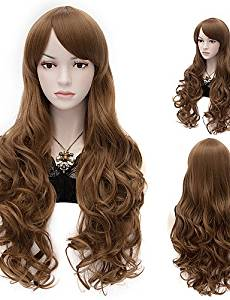 Wigs have an attractive convenience fashion Fashion Natural Wave Lady Wigs Hair Brown Synthetic Hair Wigs