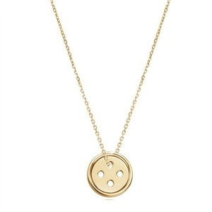 Same Design Products with Superstar Accessories Jewelry Simple Style Small Button Pendant Latest Designs Chain Necklace