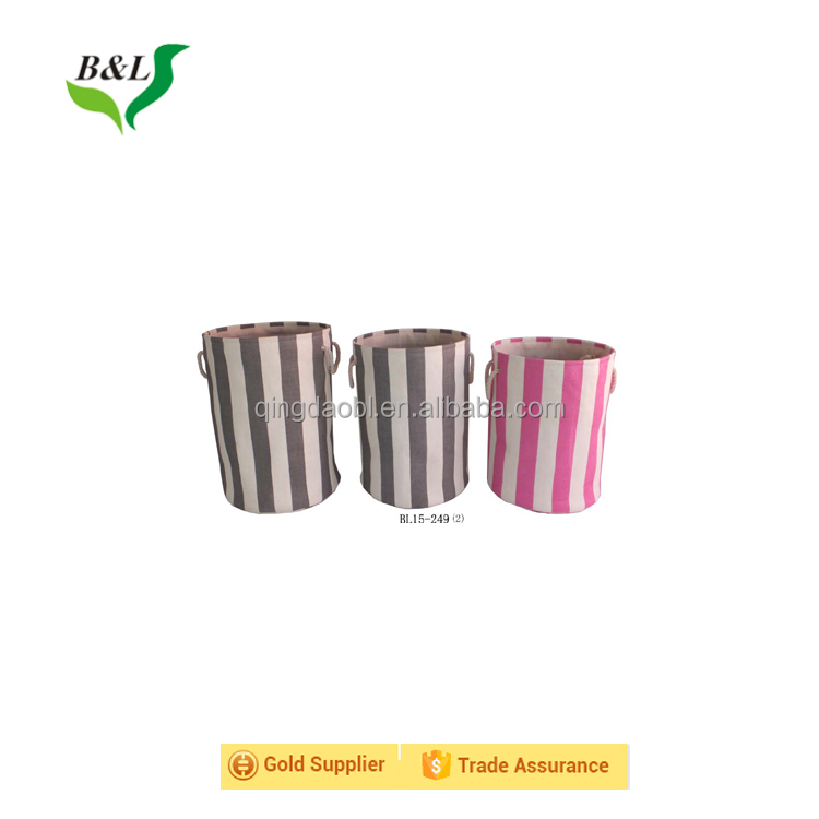 Reusable jute storage bin jute storage basket