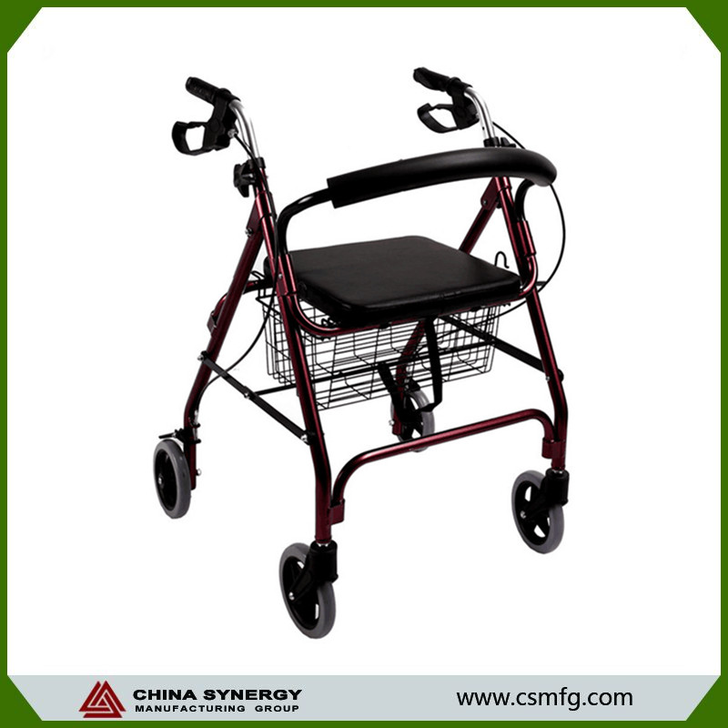 Factory price Four wheel rollator walker with seat