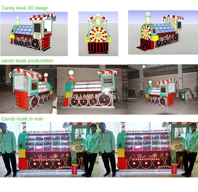 Good quality candy machine with candy kiosk