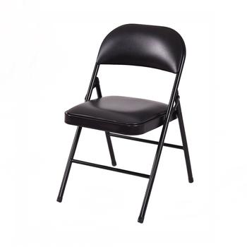 sillas plegables acolchadas negras