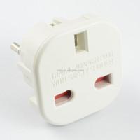 10A UK to European plug travel adapter