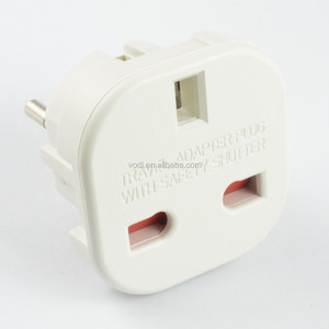 10A UK to European plug travel adapter