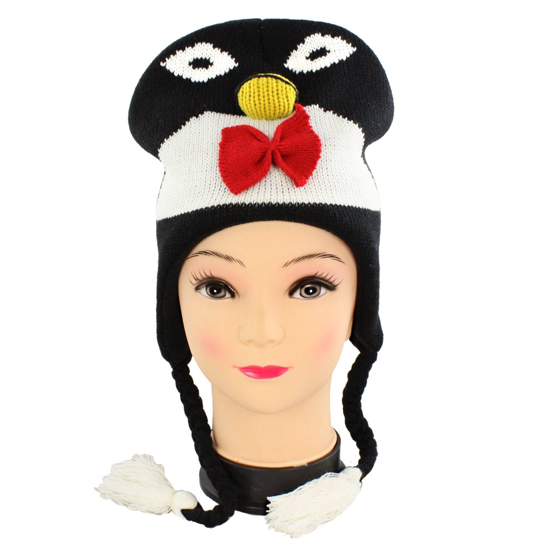 d64e3e73bb7 Get Quotations · Faddism BEAN-PENGUIN Adorable Fun Beanie in Penguin Design.