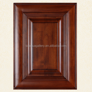 Wholesale European Style Veneer Door Solid Wood Kitchen Cabinet Door