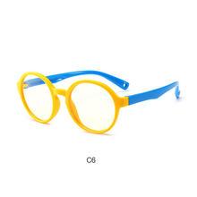 Он украшен круглыми синими светопоглащающая солнцезащитные очки для детей 2018 для мальчиков и девочек с принтом в виде большие площади проз...(Китай)