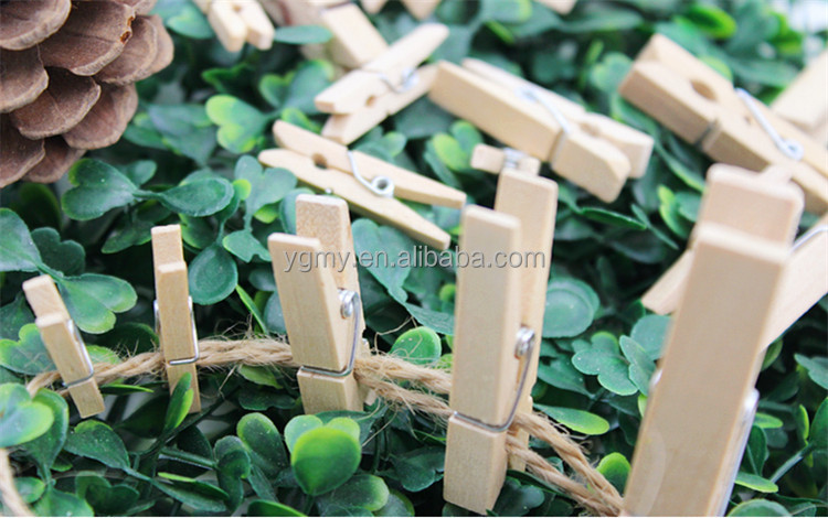 25MM Wooden Clothes Photo Paper Peg <strong>Clips</strong>