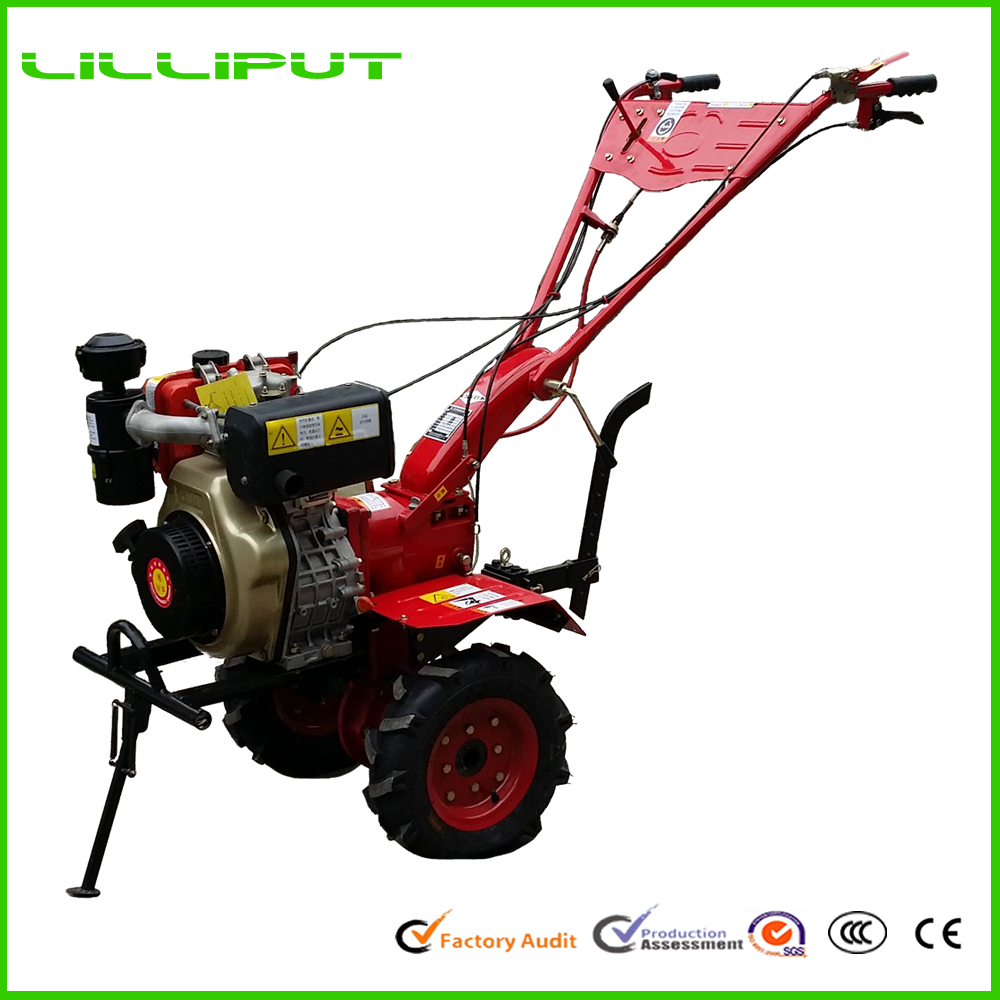 Brand New Two Wheel Multi-Function Hand Operated Hoe Cultivator For Paddy Cultivation