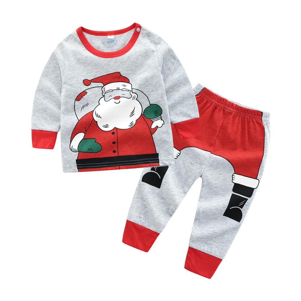 08126ddceb69a Nouveau-né Bébé Garçon Fille Vêtements Bébé Pyjama De Noël Enfants Hiver  Tops + Pantalon