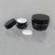 1oz Black Acrylic Cosmetic Cream Container Jar for Skin Care