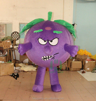 Hi Custom Angry Face Grape Mascot Costume Inflatable Fat Costumes For Men -  Buy Inflatable Fat Costumes,Grape Mascot Costume,Custom Mascot Costume