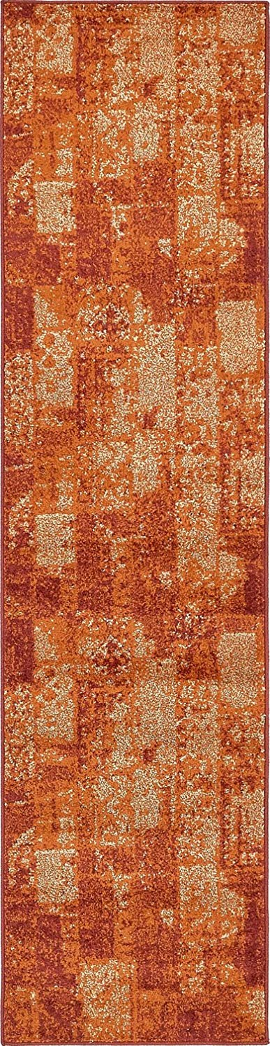 Modern Area Rug (Terracotta - 2' 6'' x 10'-Feet Runner) Giza Collection Home Floor Décor Rugs - Living, Dinning, Office, Rooms & Bedrrom, Hallway Carpet