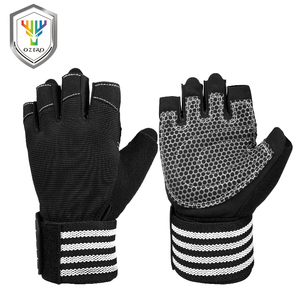 Custom half finger fitness sports gym weight lifting gloves for men