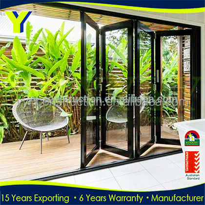 Price Flat Exterior Accordion Vertical Bifold Garage Doors