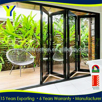 Price Flat Exterior Accordion Vertical Bifold Garage Doors