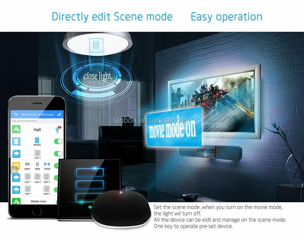 Shenzhen Light Switch Uk/europe Standard Wifi Smart Switch Remote ...