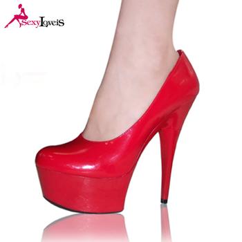 a8b6c7114 Novo modelo mulheres sapatos vermelhos de salto alto plataforma senhoras de salto  alto bombas sapatos de