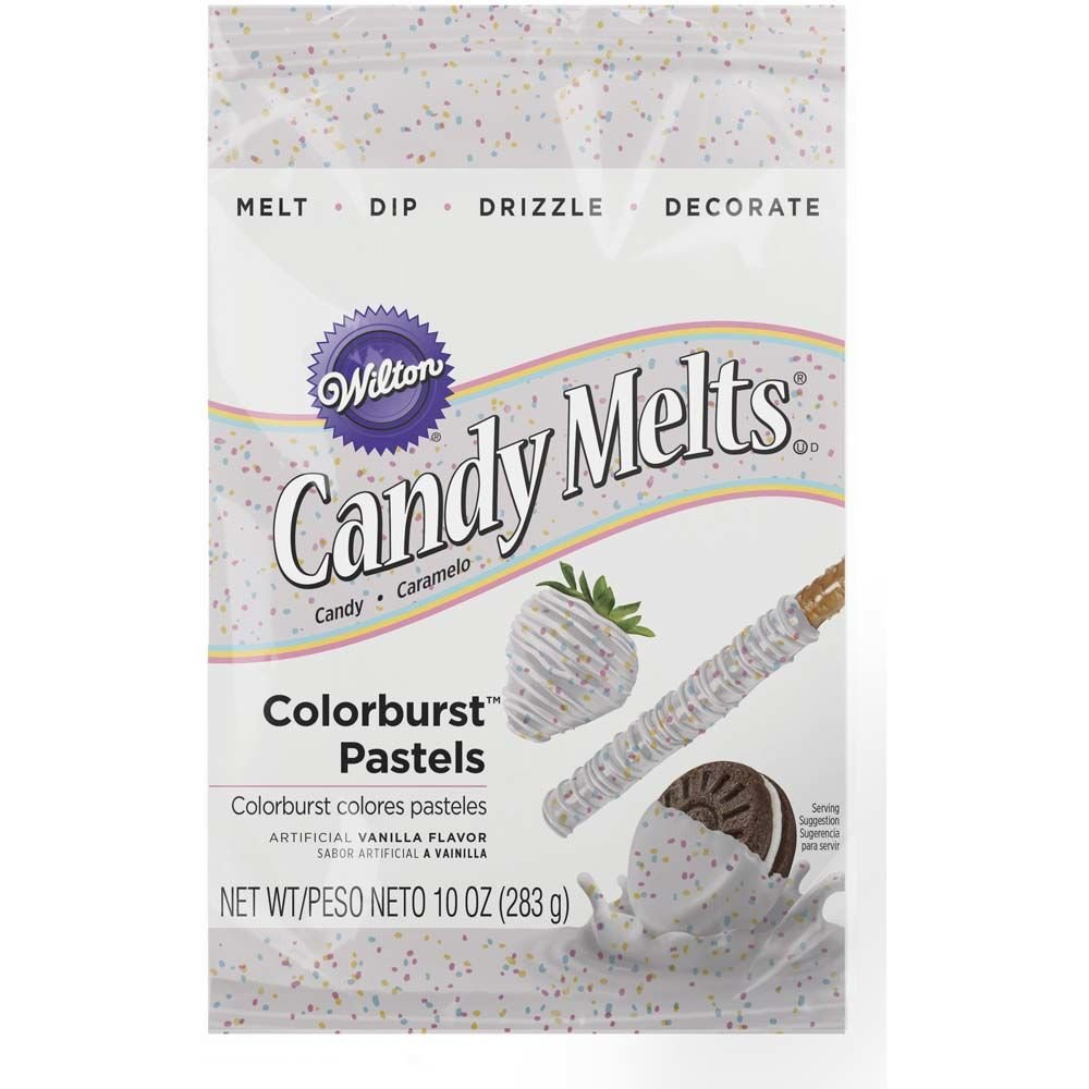 Wilton 1911-490 Pastel Colorburst Candy Melts, 10-Ounce
