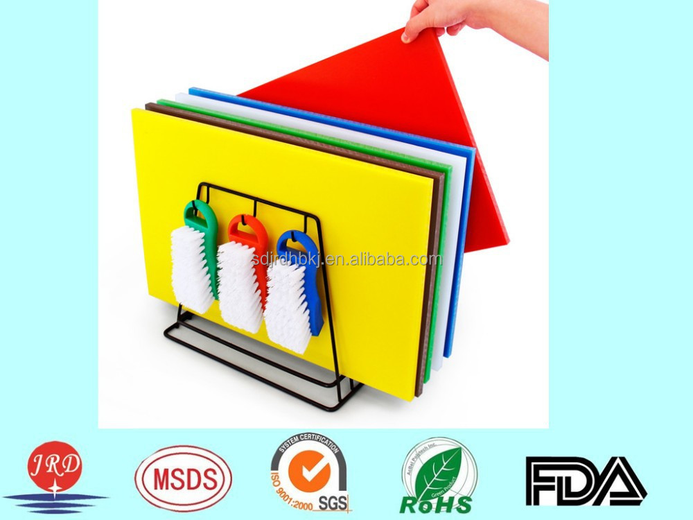 Colourful corrosion resistant PE material plastic cutting board/chopping board/block for sale