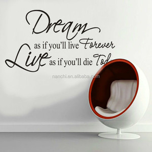 DIY Removable Art Vinyl Quote Words Wall Sticker Decal Mural Home Decor For Kids DREAM AS IF YOU LIVE FOREVER WALL